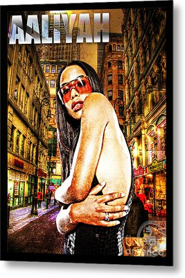 Street Phenomenon Aaliyah Metal Print by The DigArtisT