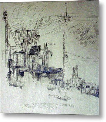 Study For Perspective Drawing Metal Print by Jana Barros