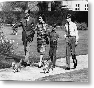 British Royal Family. From Left Prince Metal Print by Everett