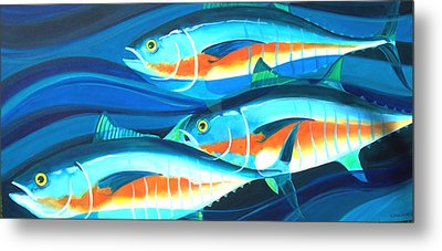 3 Fish School Metal Print by Mark Jennings