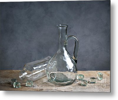 Glass Metal Print by Nailia Schwarz