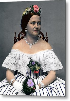 Mary Todd Lincoln 1818-1882, Wife Metal Print by Everett