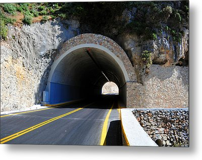Mountain Tunnel. Metal Print by Fernando Barozza