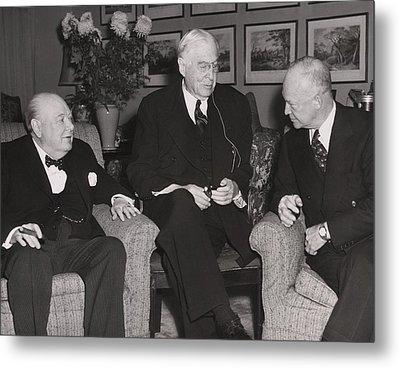 Prime Minister Winston Churchill Metal Print by Everett