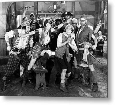 Silent Film Still: Pirates Metal Print by Granger