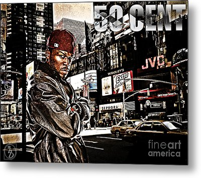 Street Phenomenon 50 Cent Metal Print by The DigArtisT