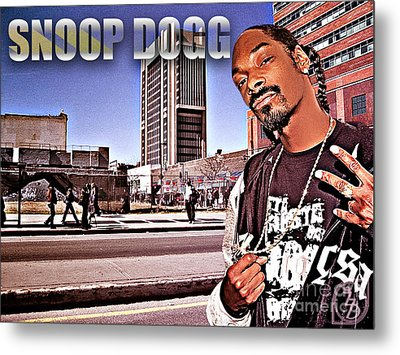 Street Phenomenon Snoop Dogg Metal Print by The DigArtisT