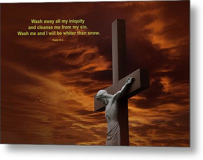 The Cross Metal Print by David Arment