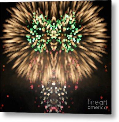 Firework Metal Print by Odon Czintos