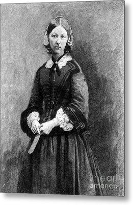 Florence Nightingale, English Nurse Metal Print by Science Source