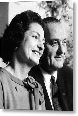 President Lyndon And Lady Bird Johnson Metal Print by Everett