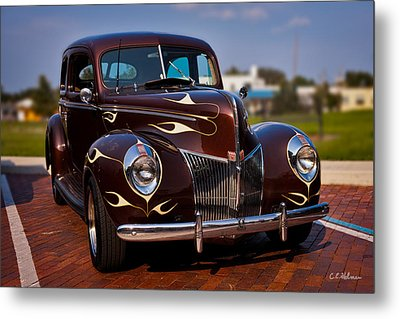 '49 Ford Two Door Sedan Metal Print by Christopher Holmes