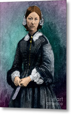 Florence Nightingale, English Nurse Metal Print by Science Source