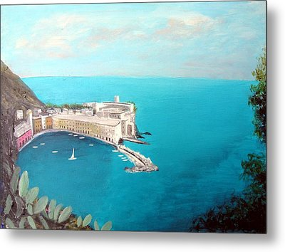5 Lands Italy Metal Print by Larry Cirigliano