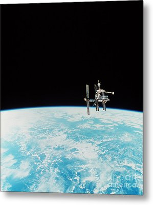 Mir Space Station Metal Print by Nasa