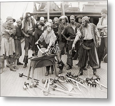 Silent Film Still: Pirates Metal Print by Granger