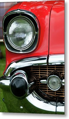57 Chevy Right Front 8561 Metal Print by Guy Whiteley