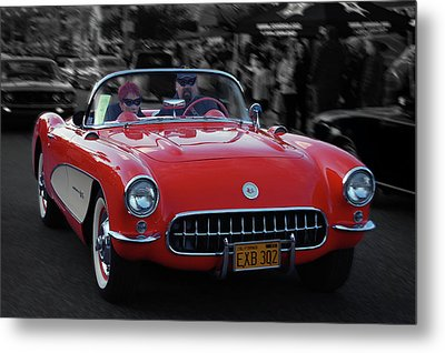 Metal Print featuring the photograph 57 Fuel Injected Vette by Bill Dutting