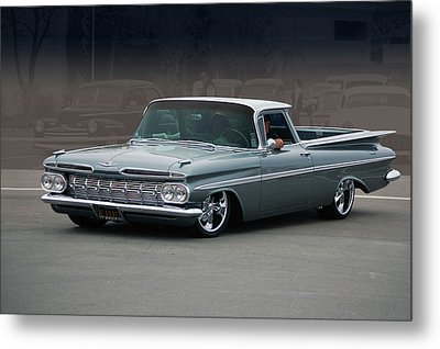 Metal Print featuring the photograph 59 El Camino Rod by Bill Dutting