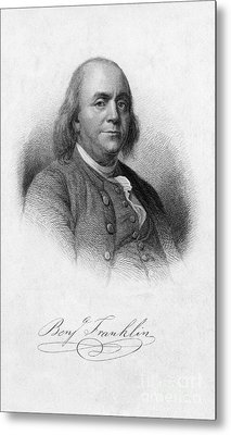 Benjamin Franklin, American Polymath Metal Print by Photo Researchers