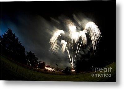 Fireworks Metal Print by Angel Ciesniarska