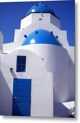 Metal Print featuring the photograph Santorini Greece by Colette V Hera  Guggenheim