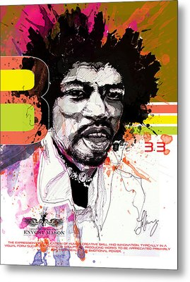 Jimi 333 Metal Print by Bobby LeVangie