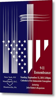 Metal Print featuring the digital art 9-11 Rememberance by Jane Bucci