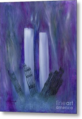9-11 Remembering Metal Print by Judy Filarecki