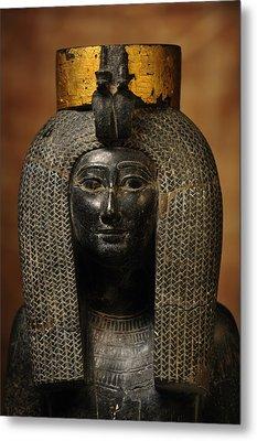 A Black Grantie Statue Of Isis Metal Print by Kenneth Garrett