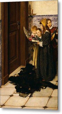 A Carol Metal Print by Laura Theresa Alma-Tadema