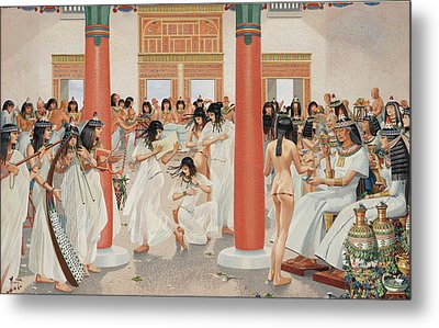 A Chief Priest Gives A Formal Banquet Metal Print by H.M. Herget