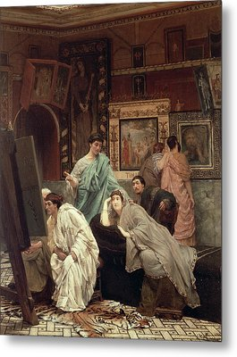 A Collector Of Pictures At The Time Of Augustus Metal Print