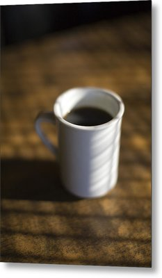 A Cup Of Coffee At A Diner Metal Print by John Burcham