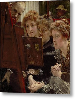 A Family Group Metal Print by Sir Lawrence Alma-Tadema