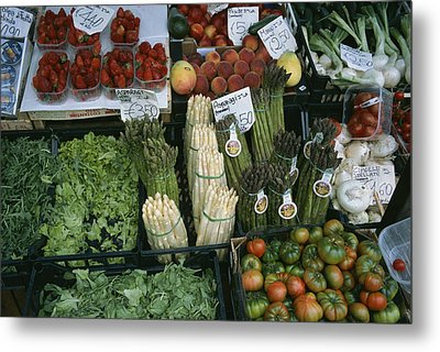 A Farmers Market Selling Vegetables Metal Print by Taylor S. Kennedy