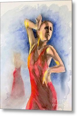 A Flamenco Dancer  2 Metal Print by Yoshiko Mishina