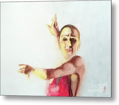 A Flamenco Dancer Metal Print by Yoshiko Mishina
