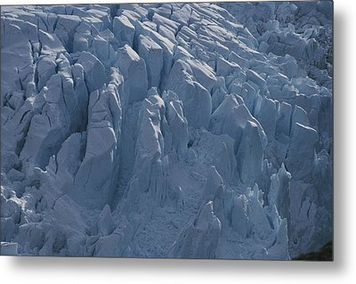 A Glacier Icefall From The Cordillera Metal Print by Gordon Wiltsie