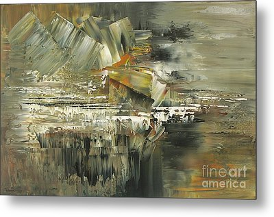 Metal Print featuring the painting A Hardened Case by Tatiana Iliina