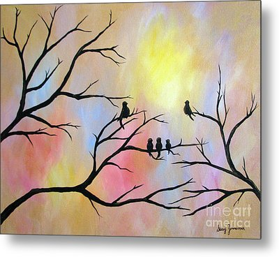 Metal Print featuring the painting A Luminous Light by Stacey Zimmerman
