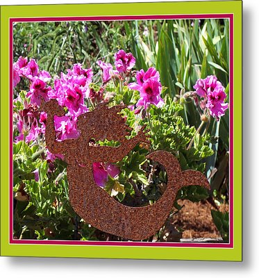 A Mermaid In My Garden Metal Print by Susan Alvaro