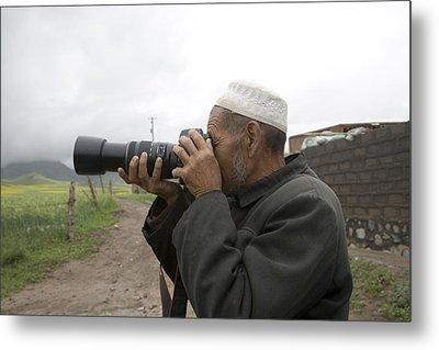 A Muslim Rural Resident Looks Metal Print by David Evans