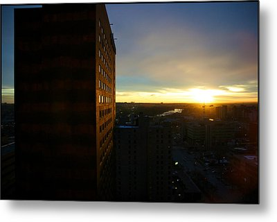 A New Day Begins Calgary Alberta Metal Print