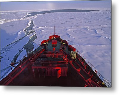 A Russian Nuclear Icebreaker, Forges Metal Print by Gordon Wiltsie