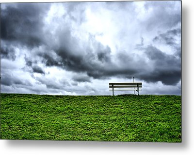 A Seat With A View Metal Print by Edward Myers