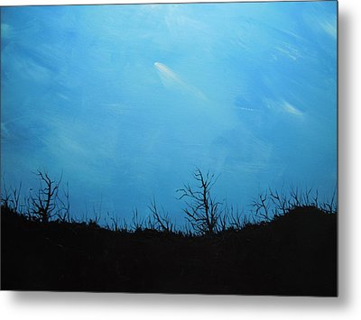 A Shooting Star In An Azure Sky Metal Print by Dan Whittemore