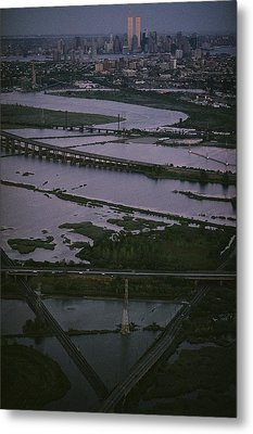 A Shot Of The Meadowlands And The New Metal Print by Melissa Farlow