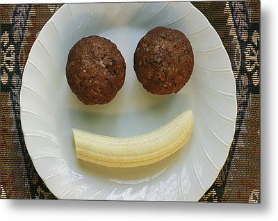 A Smiling Breakfast Of Muffins Metal Print by Marc Moritsch