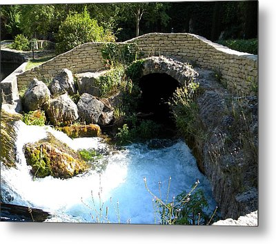 A Stream In Provence Metal Print